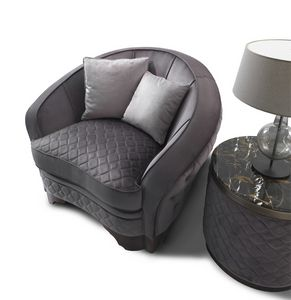 ART. 3310, Fauteuil au design arrondi