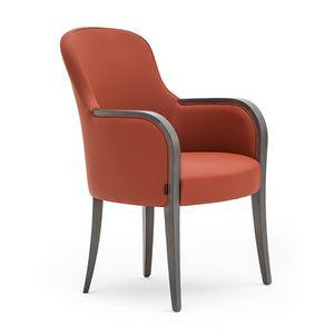 Euforia 00132, Fauteuil à remous, bois massif, assise et dossier rembourrés, revêtement en tissu, style moderne