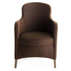 Euforia 00135, Fauteuil à remous, bois massif, assise et dossier rembourrés, revêtement en tissu, style moderne