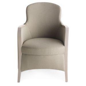 Euforia 00136, Fauteuil à remous, bois massif, assise et dossier rembourrés, revêtement en tissu, style moderne