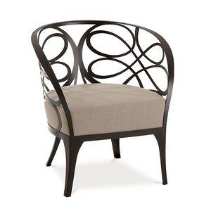 Noè fauteuil, Fauteuil de fer plat, siège rembourré en caoutchouc