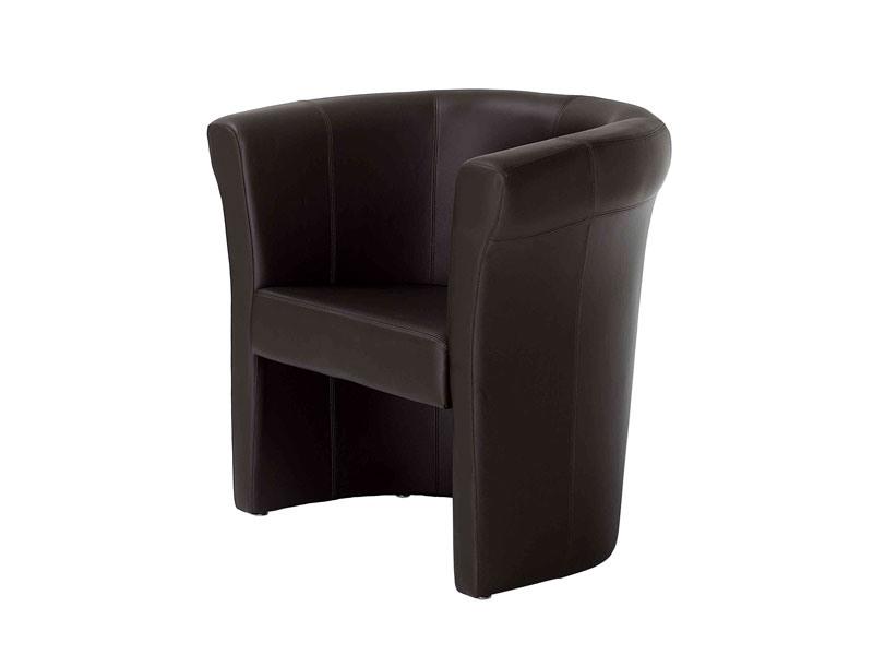 Penelope, Chaise de bain enveloppante, en cuir, pour le salon