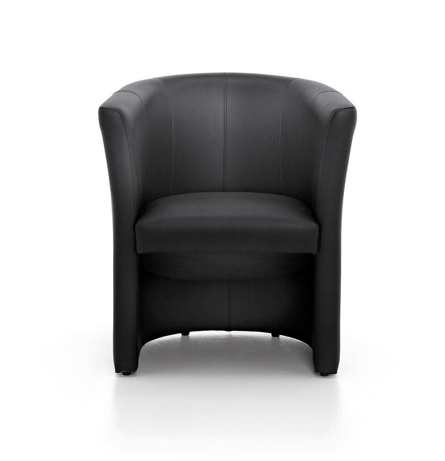 Tube 01, Chaise à remous, rembourré, pour des séjours