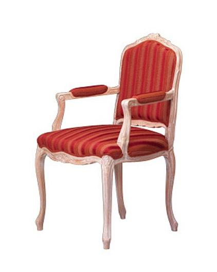 1003, Chaise classique, accoudoirs couverts, pour la salle à manger