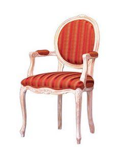 1051, Chaise avec accoudoirs recouverts de restaurant classique