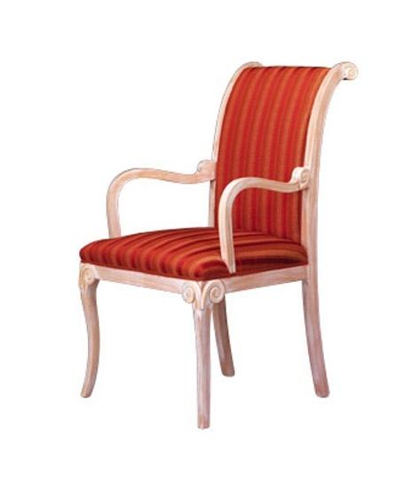 1091, Chaise classique avec accoudoirs, en hêtre, pour salle d'attente