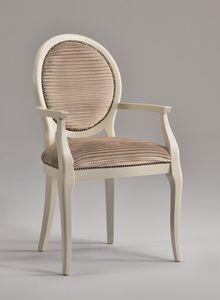ADELAIDE Chaise avec accoudoirs 8030A, Chaise avec siège rembourré, pour le restaurant de luxe