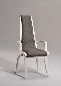 AFRODITE Chaise avec accoudoirs 8291A, Chaise rembourrée avec accoudoirs, luxe classique