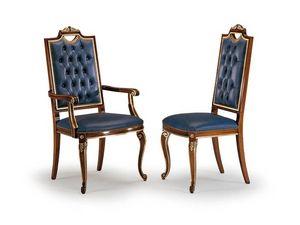 CARLO MAGNO armchair 8087A, Chaise à haut dossier matelassé, tête de la table