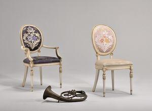 CHARLOTTE fauteuil 8649A, Chaise avec accoudoirs, de style Art Nouveau, rembourré