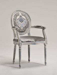 LUIGI XVI armchair 8023A, Chaise chef de la table, de style Louis XVI, personnalisable