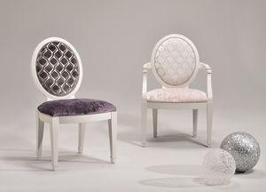 LUNA armchair 8269A, Chaise personnalisable avec accoudoirs, style classique