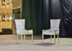 MAEVA fauteuil 8650A, Fauteuil rembourré en hêtre massif, pour la barre historique
