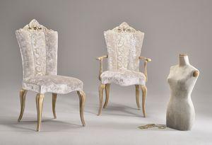 MISSIS chaise 8619S, Chaise rembourrés avec des tissus élégants, de style classique