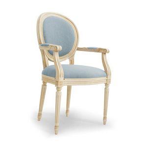 NADIR Art. 1190, Chaise laqué avec accoudoirs, assise rembourrée
