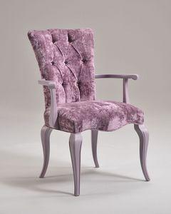 ROYAL armchair 8494A, Fauteuil avec rembourrage matelassé, style classique de luxe