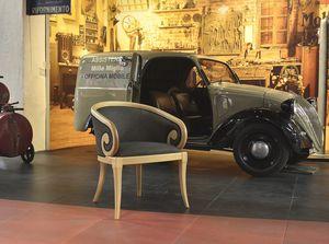 TOFEE armchair 8179A, Fauteuil rembourré avec accoudoirs incurvés, style classique