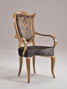 WAVE chaise avec accoudoirs 8624A, Chaise rembourrée, avec accoudoirs, pour le restaurant de luxe