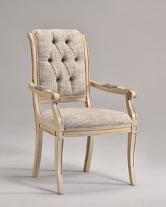 WENDY chaise avec accoudoirs 8286A, Chaise classique avec accoudoirs, personnalisable