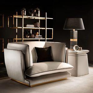 ALLURE fauteuil, Fauteuil avec base en métal poli