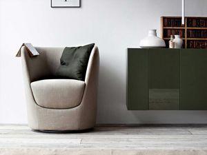 Oplà fauteuil, Design tulipe en forme de fauteuil, base pivotante