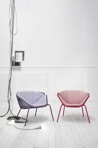 ART. 0081-MET-LOUNGE SKIN, Fauteuil coloré et moderne