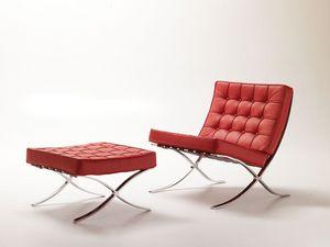 Linda, Fauteuil design, moderne et confortable, matelassé, pour la zone d'attente