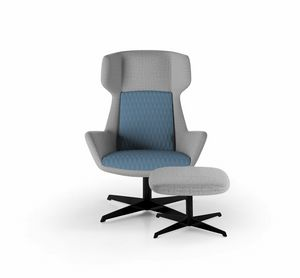 Magenta armchair, Fauteuil avec dossier haut enveloppant