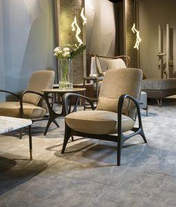 REA fauteuil GEA Collection, Fauteuil contemporain en noyer canaletto ou bois de frêne