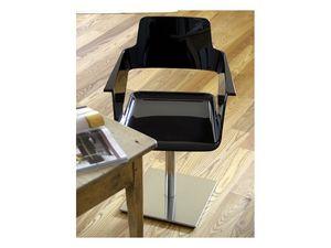 B32 swivel, Chaise pivotante avec coque en nylon, du mobilier de bureau