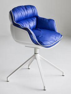 Choppy U, Chaise pivotante sur piètement métallique avec 4 lames