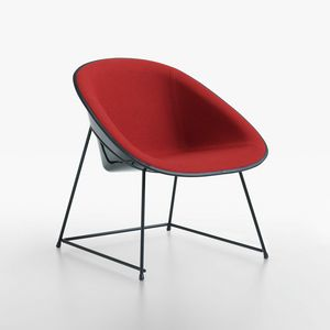 Cup lounge mod. 1960-12, Chaise longue rembourrée