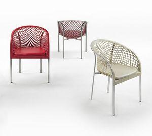 Elektra, Chaise avec texture bidimensionnelle sculptée dans le cuir