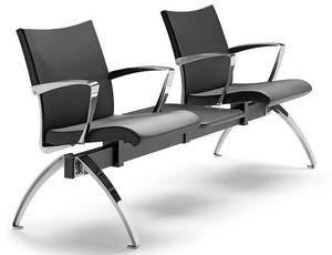 AVIA 4400B2T + OPT, Banc avec deux sièges et une table idéale pour les salles d'attente