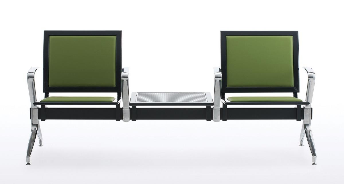 Korner, Banc à la poutre, assis sur plaque perforée, pour les zones d'attente