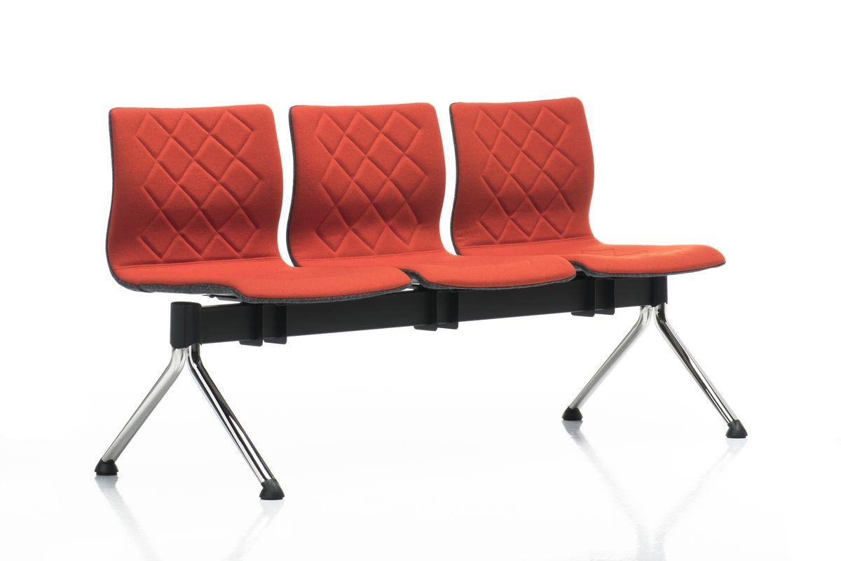 Miss bench, Banc modulable, pieds en acier chromé, pour les salles d'attente