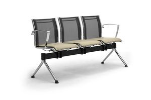 Origami RE bench with table, Banc avec table pour les salles d'attente