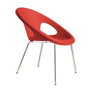 PL 2682.INT, Métal empilable et chaise en plastique adapté pour les bars