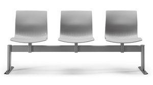 WEBBY 336 B, Chaise sur poutre avec coque en nylon, pour les salles d'attente