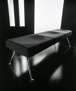 Ypsilon bench, Banc pour la salle d'attente, en métal et ignifuge polyuréthane