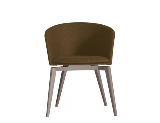 Moon Light 663MD4A, Petit fauteuil avec base en bois