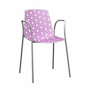 Alhambra TB, Polymère chaise essentiel et métal chromé