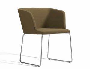 Concord 521CV, Petit fauteuil avec piètement luge en métal