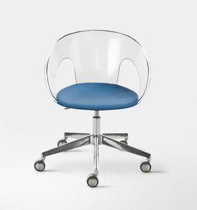 Krizia, Chaise en polycarbonate sur le cadre en métal chromé