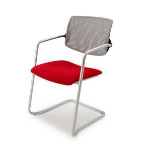 Laila 0587, Chaise empilable avec dossier en maille, pour le bureau