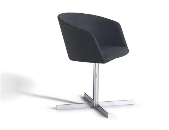 Moon Light 663CRU, Petit fauteuil avec base en métal pivotant