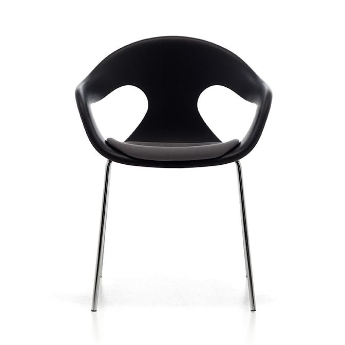 Sunny 4L, Chaise élégante, confortable enveloppe en polypropylène, empilable