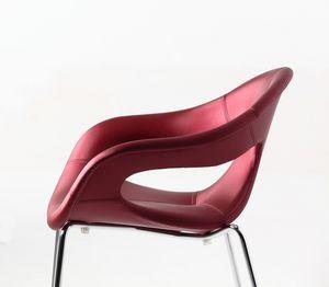 Sunny fabric 4L, Fauteuil rembourré confortable, base de métal, pour une utilisation intérieure