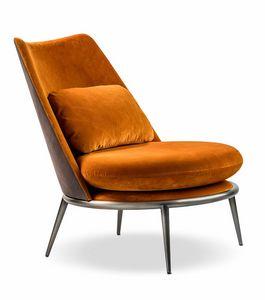 Aurora fauteuil, Fauteuil rembourré avec oreiller décoratif