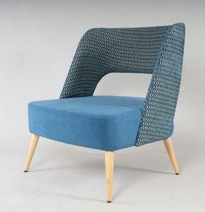 BS491P - Fauteuil, Fauteuil confortable avec grande assise